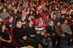 Usta sanatçılar genç tiyatroculara destek verdi.